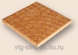Производители тротуарной плитки ПАУТИНКА 400х400х50 (персиковая)