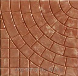 Тротуарную плитку в Москве ПАУТИНКА 400х400х50 (коричневая)