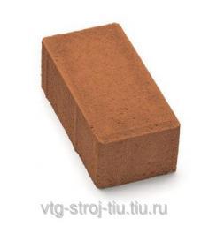 Брусчатка и тротуарная плитка москва вибропрессованная 200х100х60 (оранжевая)