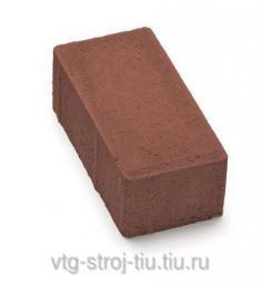 Купить плитку БРУСЧАТКУ вибропрессованная 200х100х60 (коричневая)