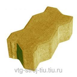 Производители тротуарной плитки Москва вибропрессованная ВОЛНА 238х158х60 (желтая)