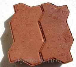 Тротуарная плитка купить Московская область ВОЛНА вибропресссованная 238х158х60 (коричневая)