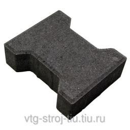 Производители тротуарной плитки КАТУШКА вибропрессованная Москва 242х160х60 (черная)
