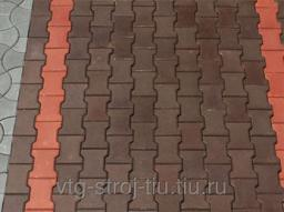 Плитка для дорожек вибропрессованная КАТУШКА 242х160х60 (коричневая)