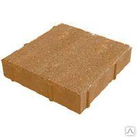 Вибропрессоавнная тротуарная плитка КВАДРАТ 330х330х60 (желтая)