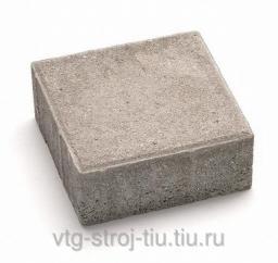 Тротуарная плитка купить москва вибропрессованная КВАДРАТ 380х380х60 (серая)