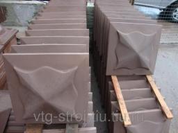 Козырек для забора 450х450 (коричневая)