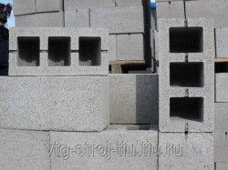 Бетонные блоки пустотелые 40х20х20