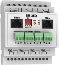 SR-35D - модуль управления релейными выходами с возможностью работы по ModBus