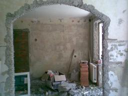 Демонтаж стен из сибита, вывоз мусора