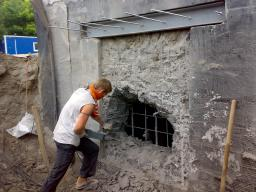 Снос бетонных стен, вывоз мусора