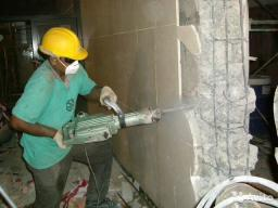 Слом бетонных стен, вывоз мусора