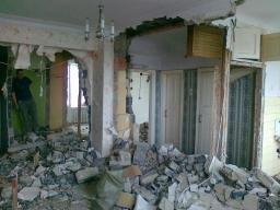 Слом сибитовых стен, вывоз мусора