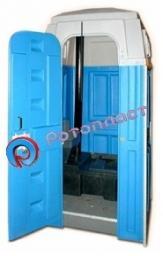 Туалетная кабина мобильная пластиковая