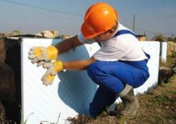 Нанесение рулонной гидроизоляции на фундамент один слой