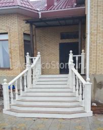 Лестницы, балясины и перила из мрамора
