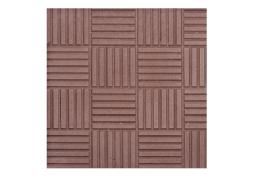Бетонная тротуарная плитка ПАРКЕТ в Московской области 300х300х30 (коричневая)