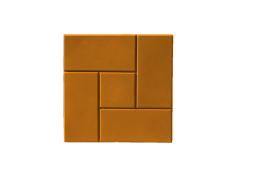 Плитка тротуарная недорого КАЛИФОРНИЯ 300х300х30 (оранжевая)