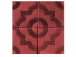 Приобрести тротуарную плитку в Москве Фантазия 300х300х30 (красная)