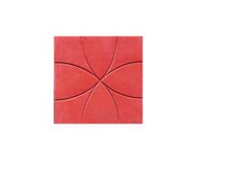 Тротуарная плитка Москва ЦВЕТОК 35х35х5 (красная)