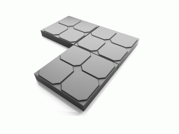 Дешевая тротуарная плитка для дачи ОКНО 35х35х5 (серая)