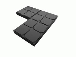 Плитка для тротуаров в Московской области ОКНО 35х35х5 черная