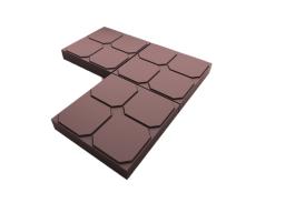 Плитка бетонная для дорожек с доставкой в Московской области ОКНО 35х35х5 (коричневая)