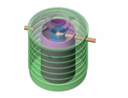 Септик - отстойник трехкамерный пластиковый энергонезависимый