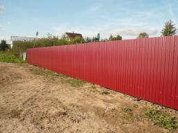 забор из профнастила в розницу