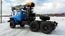 Седельные тягачи Урал 44202, 2018 г.в. с манипуляторами для леса от производителя