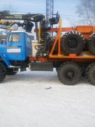 Лесовоз Урал 55571-1151-70М, с манипулятором Омтл-70.02