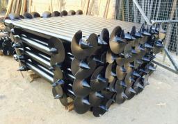 Винтовые сваи, свайно-винтовой фундамент от 76 до 102 мм.