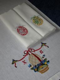 На заказ! Льняные полотенца с Пасхальной вышивкой