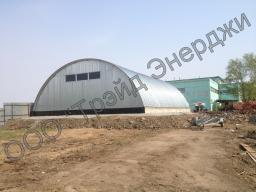 Строительство бескаркасного быстровозводимого зернохранилища
