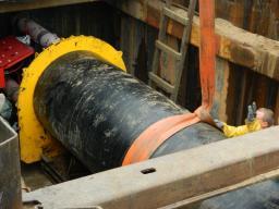 Бестраншейная прокладка нефтепровода