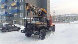 Лесовоз Урал 2018 г.в. с манипулятором Омтл-97 топливная аппаратура Россия