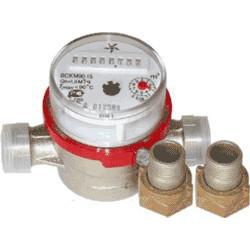Счетчики воды муфтовые ВСКМ Ду 15, 20 с присоединительным комплектом
