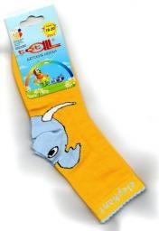 Детские носки Totall   размер 18-20  Арт.: L091 желтые со слоном