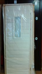 Двери для бани осина со стеклом