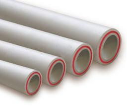 Труба ПП D40 PN25 арм.стекловолокном белая