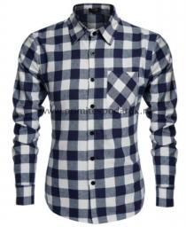 Рубашка мужская сине-белая клетка
