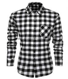 Рубашка мужская чёрная клетка