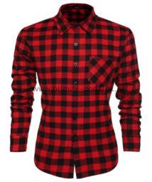 Рубашка мужская красная клетка