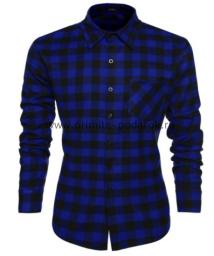 Рубашка мужская тёмно-синяя клетка