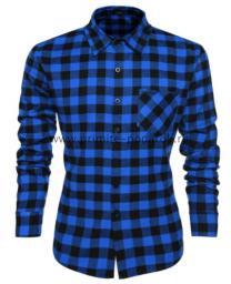 Рубашка мужская синяя клетка