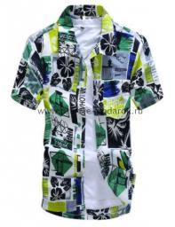Рубашка с рисунком цветная яркая