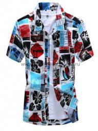 Рубашка с рисунком цветная с буквами