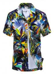 Рубашка с рисунком джунгли цветная