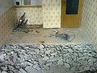 Демонтажные работы напольных покрытий(стяжка,деревянный пол,ламинат,кавролин,плитка,линолиум)