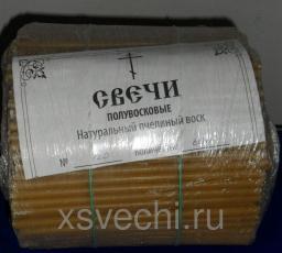 Подробная информация о книге: Свечи полувосковые. Натуральный пчелиный воск № 120, 2 КГ